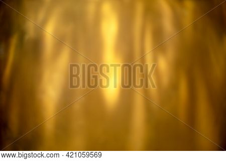 Blur Image Of Light Beam With Shadow On Brown Wooden
