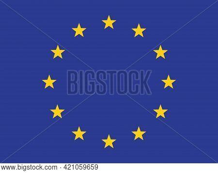 The Official Flag Of The European Union. European Union. Official Symbol. Twelve Stars. Political Tr