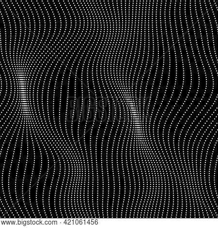Seamless Wavy Array Of Dots Pattern For Print Or Digital Use