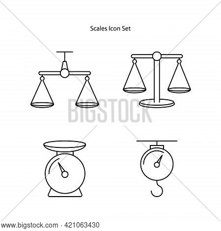 Scale Icons Set Isolated On White Background From Banking And Finance Flat Icons Collection. Balance
