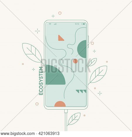The Concept Illustration Depicts Conscious Consumption. Vector Graphics In A Simple Flat Style.