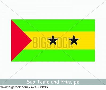 National Flag Of Sao Tome And Principe. Democratic Republic Of São Tomé And Príncipe Country Flag De