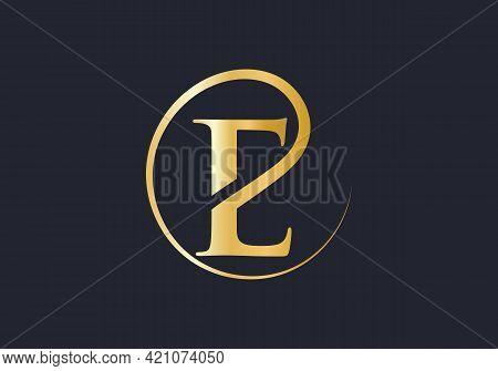 E Letter Logo. E Logo For Luxury Branding. Elegant And Stylish E Logo Design For Your Company.