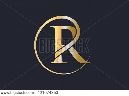 Premium Letter R Logo With An Elegant Corporate Identity Template. Simple Elegant Initial Letter Typ