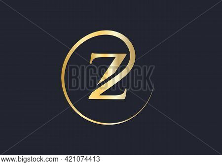 Modern Z Logo Design For Business And Company Identity. Creative Z Letter With Luxury Concept