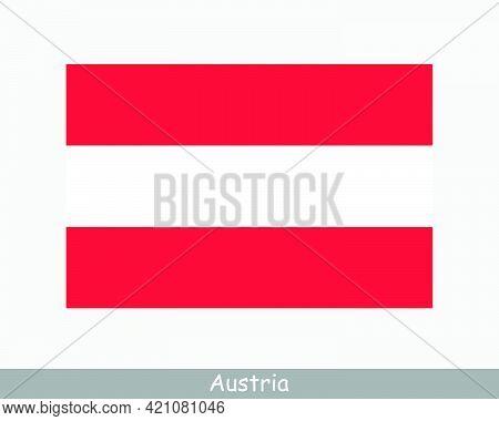 National Flag Of Austria. Austrian Country Flag. Republic Of Austria Detailed Banner. Eps Vector Ill