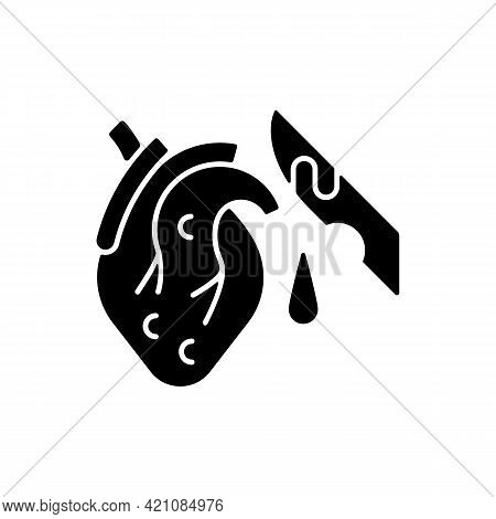 Pathological Waste Black Glyph Icon. Human Body Parts That Pollute Environment. Contaminated Fluid,