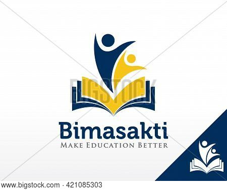 Education Logo. Leadership And Book Logo Design Vector Template