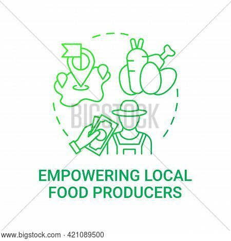 Empowering Local Food Producers Concept Icon. School Meal Requirements. Eating Health Natural Foods