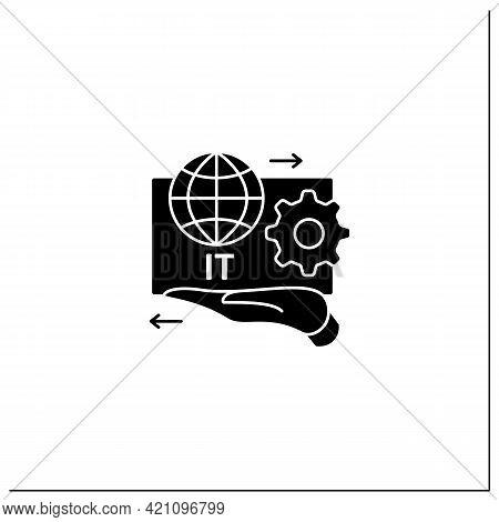 It Asset Management Glyph Icon.decision Making For It Environment.financial, Contractual Functions.b