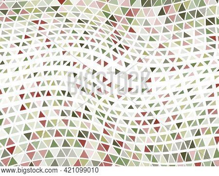 Hipster Triangles Halftone Backdrop. Fade Triangular Shapes Cover Backdrop. Stylish Triangles Halfto
