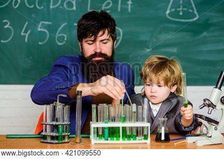 Special And Unique. Genius Toddler Private Lesson. Genius Kid. Teacher Child Test Tubes. Chemical Ex