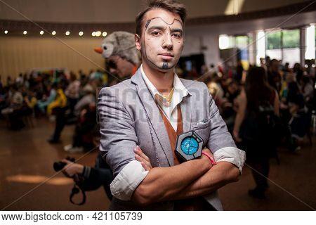 Kiev, Ukraine - May 20, 2018: Comic Con, An Annual Festival Of Geek Culture In Kiev, Ukraine. Cospla