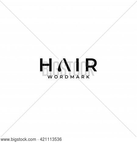 Unique And Catchy Wordmark Logo About Hair. Eps 10, Vector.