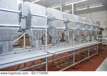 Automated Line Poultry Equipment.meat Processing Factory.industrial Production Cutting Large Quantit