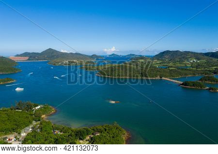 Top view of Sai kung island