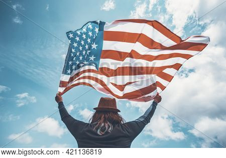 Celebrating Memorial Day, 4th of July or Labour Day in USA.