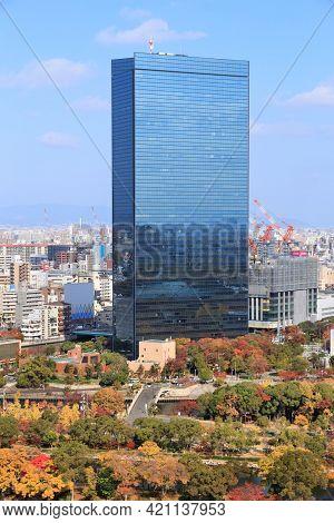 Osaka, Japan - November 22, 2016: Crystal Tower Skyscraper In Osaka, Japan. Crystal Tower Is Located