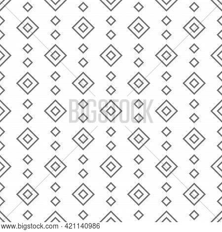 Seamless Pattern With Grey Line Rhombus. Ethnic Symmetric Background. Modern Pattern. Geometric Seam