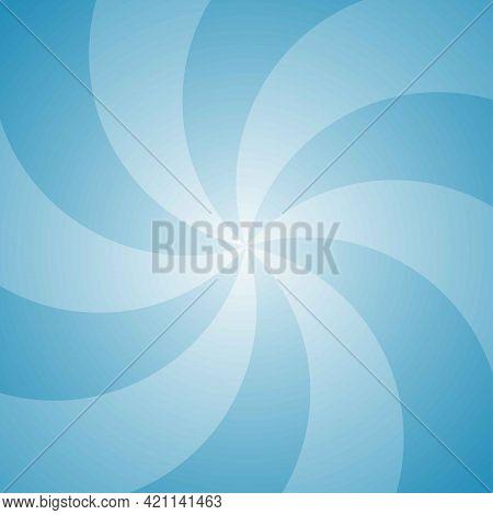 Sunlight Background. Bright Blue Color Burst Background. Vector Illustration. Sun Beam Ray Sunburst