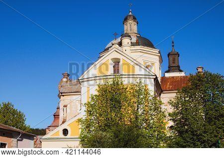 Close-up View Of Saint Ignatius Of Loyola And Stanislaus Kostka Church (former Jesuit Collegium). Je