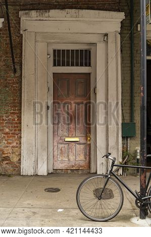Old Door In The French Quarter Of New Orleans La Usa