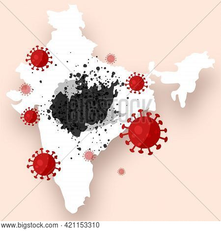 Black Mold Epidemic In India. Infection Of People With Mucormycosis After A Decrease In Immunity Due