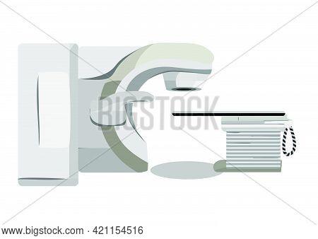 Volumetric Modulated Arc Therapy Concept Vector Illustration