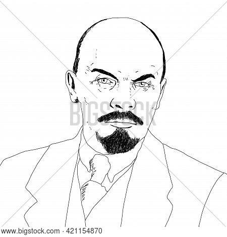 Realistic Illustration Of Soviet Leader Vladimir Lenin