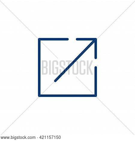 Link Icon Showing Box W Arrow - Leaving Website