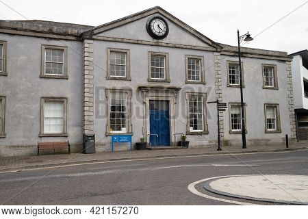Trim, County Meath, Ireland, May 16th 2021. Frontal View Of Trim Courthouse County Meath