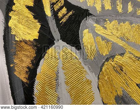 Golden Grunge Texture. Vintage Abstract Golden Background For Your Design. Luxury Golden Background.