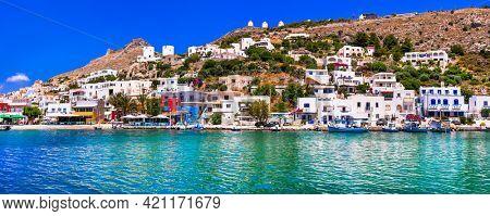 authentic Greece - traditional fishing village Panteli. Beautiful greek island Leros, Dodecanese