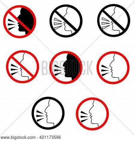 Talking Icon On White Background. Speaking Sign. Talk Symbol. Speech Logo. Flat Style.