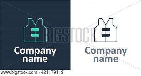 Logotype Life Jacket Icon Isolated On White Background. Life Vest Icon. Extreme Sport. Sport Equipme