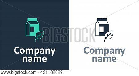 Logotype Vegan Milk Icon Isolated Logotype Background. Vegetarian Product. Logo Design Template Elem