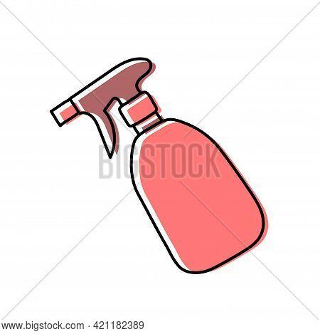 Pultilizer, Detergent. Hairdressing Equipment Line Sketch. Professional Hair Dresser Tool. Hand Draw