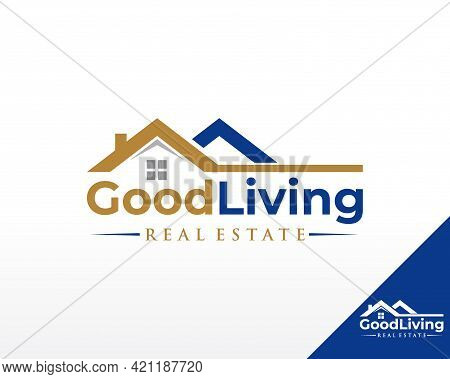 Real Estate Logo. House And Residence Logo Design Vector Template