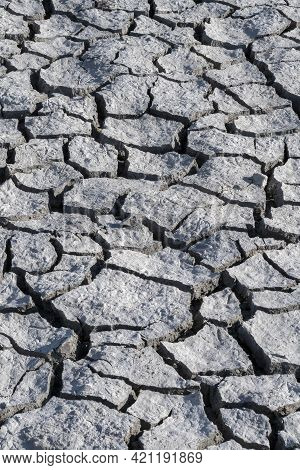 Barren Cracked Land During Prolonged Dry Spell