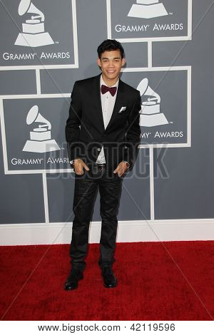 LOS ANGELES - FEB 10:  Roshon Fegan arrives at the 55th Annual Grammy Awards at the Staples Center on February 10, 2013 in Los Angeles, CA