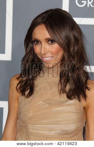 LOS ANGELES - FEB 10:  Giuliana Rancic arrives at the 55th Annual Grammy Awards at the Staples Center on February 10, 2013 in Los Angeles, CA