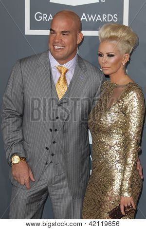 LOS ANGELES - FEB 10:  Tito Ortiz, Jenna Jameson arrive at the 55th Annual Grammy Awards at the Staples Center on February 10, 2013 in Los Angeles, CA