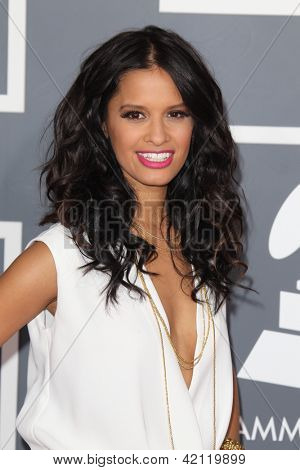LOS ANGELES - FEB 10:  Rocsi Diaz arrives at the 55th Annual Grammy Awards at the Staples Center on February 10, 2013 in Los Angeles, CA