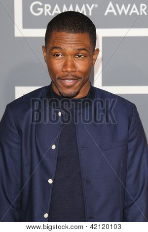 LOS ANGELES - FEB 10:  Frank Ocean arrives at the 55th Annual Grammy Awards at the Staples Center on February 10, 2013 in Los Angeles, CA