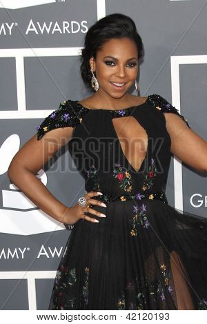 LOS ANGELES - FEB 10:  Ashanti arrives at the 55th Annual Grammy Awards at the Staples Center on February 10, 2013 in Los Angeles, CA