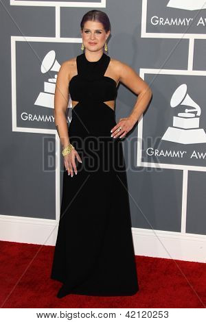 LOS ANGELES - FEB 10:  Kelly Osbourne arrives at the 55th Annual Grammy Awards at the Staples Center on February 10, 2013 in Los Angeles, CA