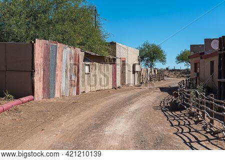Beaufort West, South Africa - April 3, 2021: A Scene At Steenbokkie Nature Reserve Near Beaufort Wes