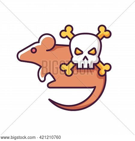 Animals Rgb Color Icon. Mice And Rats. Small Animals That Carry Dangerous Diseases. Health Care Prob