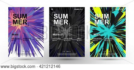 Music Covers. Explosion Of Vibrant Colors. Splash Of Paint. Club Party Flyer. Poster, Presentation,