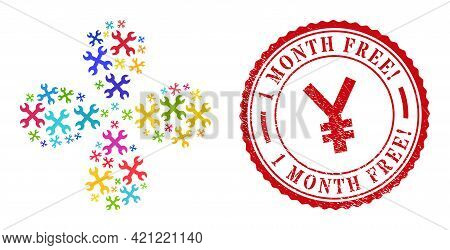 Wrenches Bright Rotation Flower Cluster, And Red Round 1 Month Free Exciting. Grunge Rubber Print. W